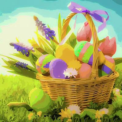 Bringing The Outdoors In - Easter Basket by Teresa Trotter