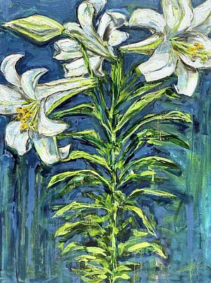 Painting - Easter Lilies by Elena Kent