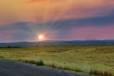 Photograph - Eastern Oregon Sunset by Byron Fair