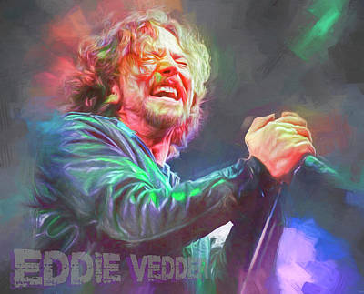 Cartoons Tees - Eddie Vedder by Mal Bray