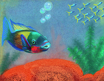 Clouds Rights Managed Images - Edit of Fish Only A Fine Day Royalty-Free Image by Gary F Richards