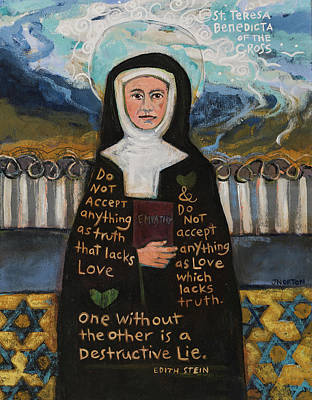 Modern Feathers Art - Edith Stein aka St Benedicta of the Cross by Jen Norton