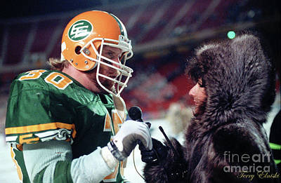 Christmas Cards - Edmonton Eskimos Football - Danny Bass Interview - 1990 by Terry Elniski