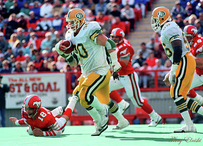 Af Vogue - Edmonton Eskimos Football - Danny Bass Turnover - 1988 by Terry Elniski