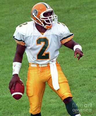 Sports Royalty-Free and Rights-Managed Images - Edmonton Eskimos Football - Gizmo Williams Td - 1990 by Terry Elniski