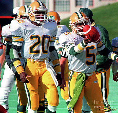 Af Vogue - Edmonton Eskimos Football - Stanley Blair Interception - 1988 by Terry Elniski