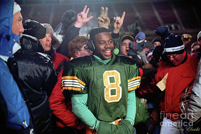 Sports Royalty-Free and Rights-Managed Images - Edmonton Eskimos Football - Tracy Ham Interview - 1990 by Terry Elniski