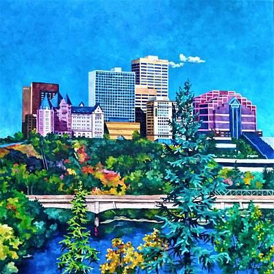 Painting - Edmonton MacDonald Hotel by Nel Kwiatkowska