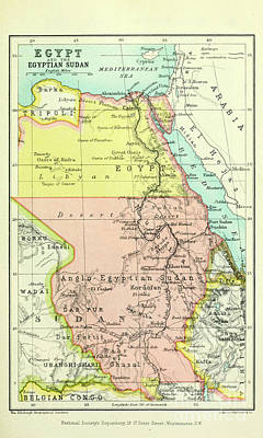 Drawings Royalty Free Images - Egypt and the Egyptian Sudan i1 Royalty-Free Image by Historic illustrations