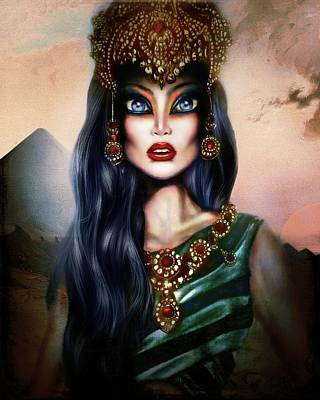 Surrealism Royalty-Free and Rights-Managed Images - Hatshepsut Painting by Tiago Azevedo Pop Surrealism Art by Tiago Azevedo