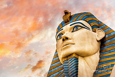Photograph - Egyptian Sphinx at the Luxor Hotel in Las Vegas by Bryan Mullennix