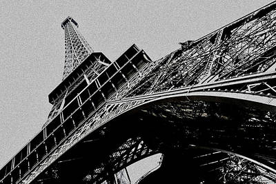 Abstract Male Faces - Eiffel Tower by Joe Vella