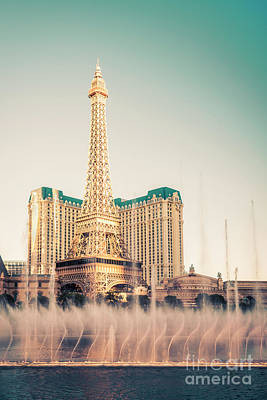 Photograph - Eiffel Tower Paris Las Vegas by Bryan Mullennix