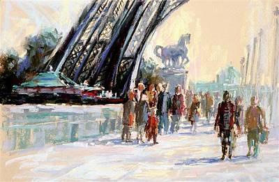 Pastel - Eiffel Tower Walk by David Garrison