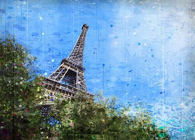 Digital Art - Eiffel trees by Andrea Gatti
