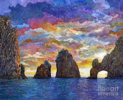 Open Impressionism California Desert - El Arco by Hailey E Herrera