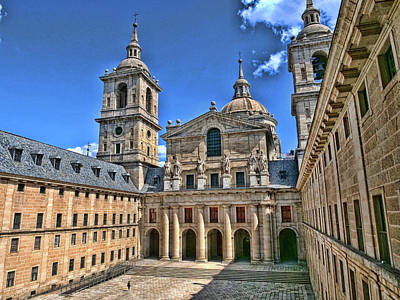 Abstract Shapes Janice Austin - El Escorial Courtyard  2 - Madrid by Allen Beatty