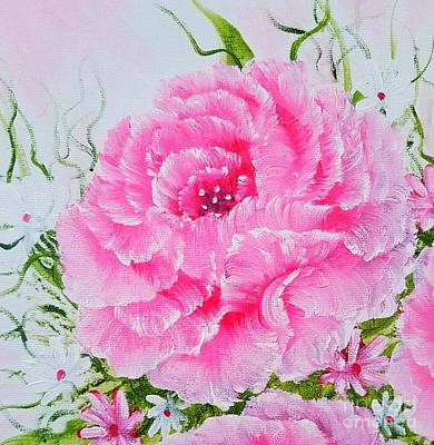 Classic Christmas Movies - Elegant rose treasures mini special pink glow  by Angela Whitehouse