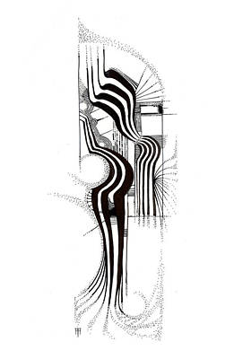 Animals Drawings - Elephant by Alex Ruiz