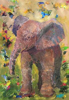 Painting - Elephant Bebe Fille by Jessel Miller