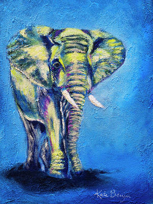 Painting - Elephant Out Walking by Kate Benzin