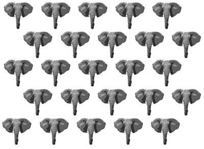 Target Threshold Nature - Elephants 2 by Toni Jaso