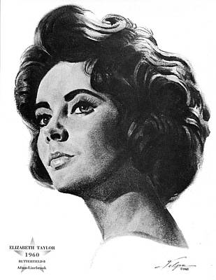 Drawings Royalty Free Images - Elizabeth Taylor by Volpe Royalty-Free Image by Stars on Art