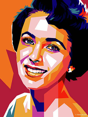 Royalty-Free and Rights-Managed Images - Elizabeth Taylor - early by Stars on Art
