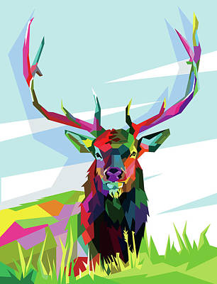 Royalty-Free and Rights-Managed Images - Elk Wpap Pop Art by Ahmad Nusyirwan