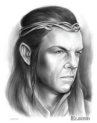 Drawings Royalty Free Images - Elrond - pencil Royalty-Free Image by Greg Joens