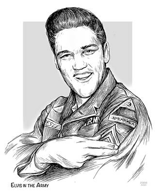 Drawings Rights Managed Images - Elvis Army Royalty-Free Image by Greg Joens