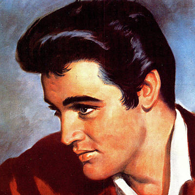 Mixed Media Royalty Free Images - Elvis Presley poster Royalty-Free Image by Stars on Art