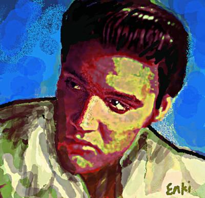 Music Paintings - Elvis Retro by 3nki  by Enki Art