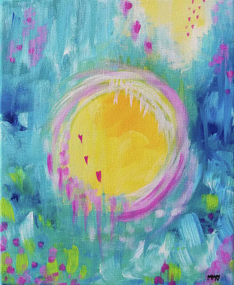 Painting - Embraced by Love and Light by Marieke Mertz