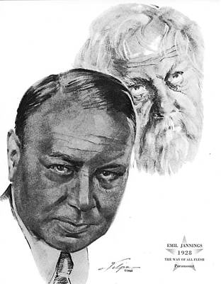 Drawings Royalty Free Images - Emil Jannings by Volpe Royalty-Free Image by Stars on Art