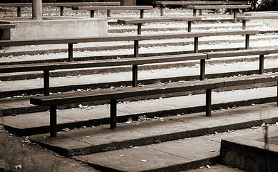Art History Meets Fashion Rights Managed Images - Empty Bleachers Royalty-Free Image by Marilyn Hunt