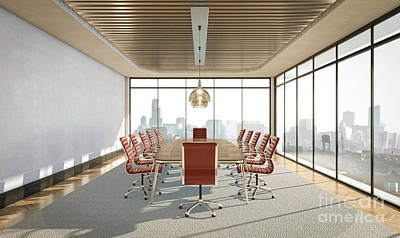 Bicycle Patents - Empty Boardroom Interior by Allan Swart