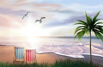 Painting - Empty Deckchairs by Mark Taylor