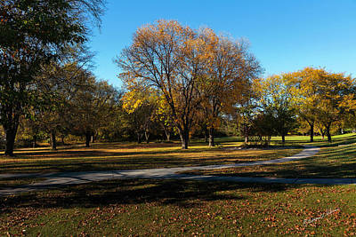 Olympic Sports - Empty Fall Park by Edward Peterson