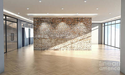 Kitchen Mark Rogan Rights Managed Images - Empty Office Interior Royalty-Free Image by Allan Swart