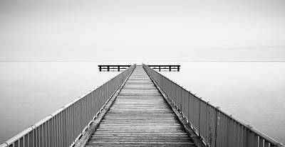 Outdoor Graphic Tees - Empty Pier, Minimal seascape by Michalakis Ppalis