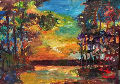 Painting - End of Day by Jessel Miller