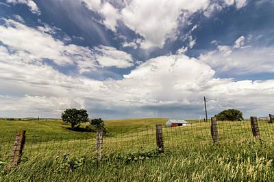 Rusty Trucks - Endless Sky over Grassland by Craig A Walker