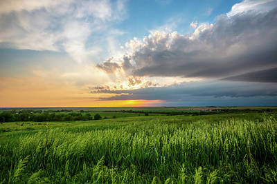 Catch Of The Day - Endless Spring - Sunset Over Prairie in Kansas by Southern Plains Photography
