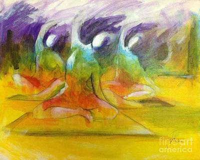Painting - Energy of Yoga by Sandra Taylor-Hedges