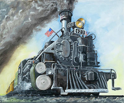 Painting - Engine 473 by Jerry McElroy
