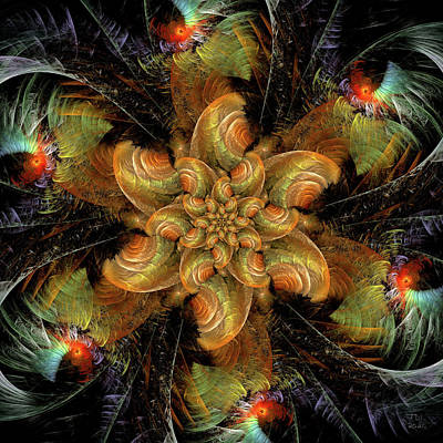 Jodi Diliberto Royalty-Free and Rights-Managed Images - Entwined Corolla of a Fractal Flower by Jodi DiLiberto