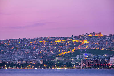 Royalty-Free and Rights-Managed Images - Eptapyrgio and Thessaloniki castle night view by Alexios Ntounas