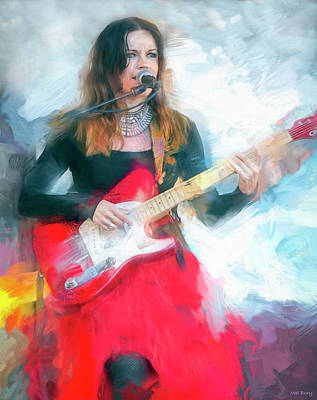 Musicians Royalty Free Images - Erja Lyytinen Blues Musician Royalty-Free Image by Mal Bray