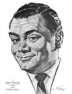 Drawings Royalty Free Images - Ernest Borgnine by Volpe Royalty-Free Image by Stars on Art